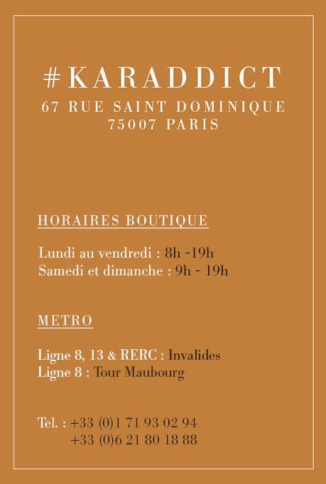 horaires d ouverture de la boutique karamel au 67 rue saint dominique 75007 paris