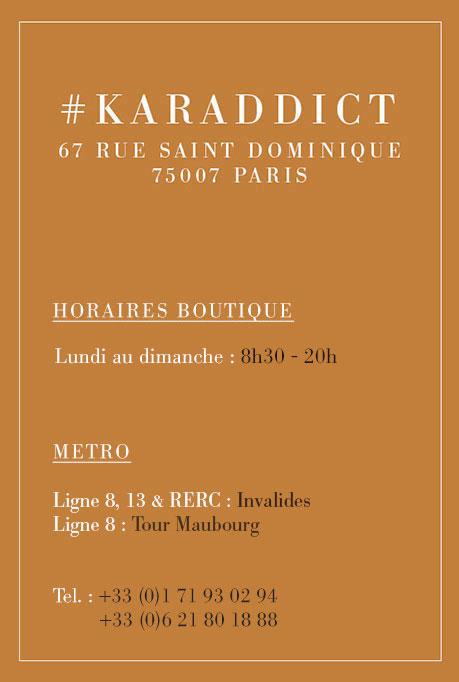 Horaire boutique Karamel Paris